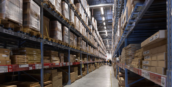 large warehousing expansive inventory
